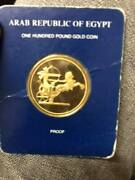 Egypt 100pounds Gold Proof The Golden Warrior King Ramses 2 In His Royal Chariot
