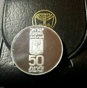 🔥 1978 🔥 Israel Shalom Hebrew 50 Lirot Km 92 Proof Silver Coin ✨ Mintage 21k