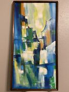 Rare Original Signed Abstract Art By Irma Wallem