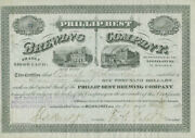 Frederick Pabst - Stock Certificate Signed 05/20/1873 With Co-signers