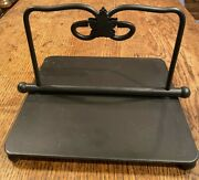 Longaberger Wrought Iron Napkin Holder Previously Owned Nice Condition No Box