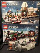 Lego Creator Winter Village Holiday Train And Station 10254 10259 Plus Power New