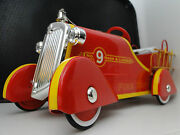 Mini Fire Engine Ford Truck Pedal Car Too Small To Ride On Metal Body Red F150