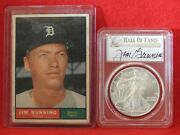 2020 P 1 Silver Eagle Emergency Issue Pcgs Ms70 Fdoi Hall Of Fame Jim Bunning