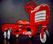 Pedal Car Tractor Too Small For A Child Ride On Miniature Metal Body Model Art