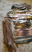 Huge Lot Nwt Genuine Leather Boutique Western Angel Ranch Belts