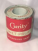 Vtg Band-aid Curity Wet - Pruf Medical Tape Bandage Tin Adhesive First Aid Kit