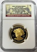 2014 W Gold 10 Florence Harding 1/2oz Spouse 2372 Minted Ngc Proof 70 Uc