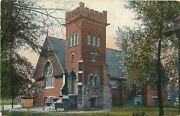 Niles Ohiolean-to Shed Next To Episcopal Churchcorner Battlement Tower 1909 Pc