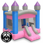 Commercial Princess Castle Bounce House - 100 Pvc Bouncer - Inflatable Only