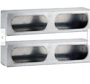 Set Of 2 - Stainless Steel Double Oval, Tail Light Boxes For Wrecker, Truck Body