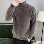 Men Autumn Pullover High Neck Regular Sweaters Jumper Pullover Casual Coat Tops