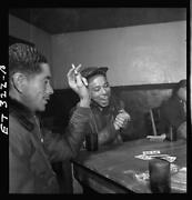 Tuskegee Airmen Playing Cards In The Officersand039 Club In The Eveningwalter Downs