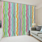 French Fries Stable Red Lines Printing 3d Blockout Curtains Fabric Window