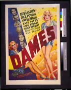 Photodames,motion Picture Poster 1934,r Keeler, Dick Powell