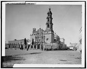 Cathedral,aguascalientes,catholic Religious Buildings,roads,statues,mexico,1880