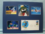 Marvin The Martian With Bugs Bunny And The First Day Cover Of Daffy Duck Stamp