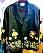 Vtg Womens Blazer By The Quaker Factory Floral Embroidered Sz Xxl Preowned Vg
