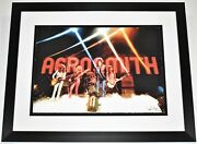 James Fortune Signed Aerosmith Lithograph Photo Print 41/275 - 29x23 Framed Le