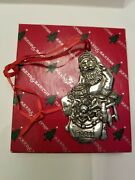 1994 Reed And Barton Silverplate Santa Christmas Ornament For Dillards Dept Store