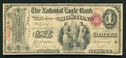 """1865 1 """"ace"""" The National Eagle Bank Boston, Ma National Currency Ch. 993"""
