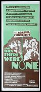 And Then There Were None Rare Daybill Movie Poster Agatha Christie Oliver Reed