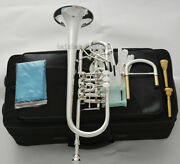 New Professional Rotary C Trumpet Horn Silver Plated Upper Register Harmonic Key