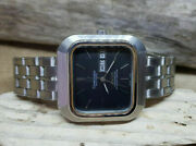 Rare Vintage Large Omega Constellation Black Dial Auto Daydate Manand039s Watch