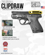 Clipdraw Belt Clip For Smith And Wesson Mandp Shield 9mm And .40 Iwb Owb Black Ambi