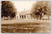 Standish Mimen And Boys Lounge At Michigan Central Railroad Depot1911 Rppc