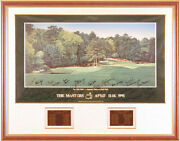 Arnold Palmer - Printed Art Signed In Ink Circa 1991 With Co-signers