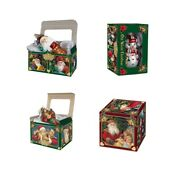 Old World Christmas Gift Boxes Includes 5 Boxes