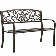Outdoor Patio Front Porch Garden Park Metal Bench Outside Benches Clearance