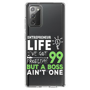 Clear Case For Galaxy Note Entrepreneur 99 Problems But Boss Ainand039t One