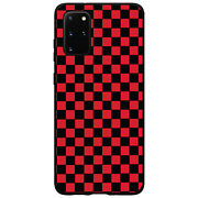 Hard Case Cover For Samsung Galaxy S Red Black Checkered Flag Geometrc