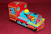 Old Toy Train Locomotive Tin Lithograph Friction Motor Mt Modern Toys Japan Rr