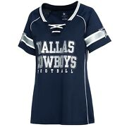 Dallas Cowboys Womenand039s Avery Fashion Bedazzled Jersey - Navy