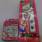 bandai Sailor Moon Starry Sky Music Box And Moon Stick Set 1992 Battery Operated