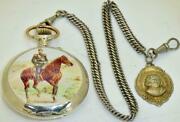 One Of A Kind Antique Imperial Russian Award Enamelled Silver Pocket Watchandfob