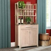 Bakers Rack For Kitchens With Storage Rustic Microwave Stand Organizer 7 Shelves