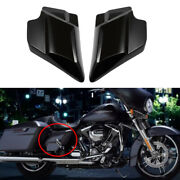 Black Left Right Side Covers Fit For Harley Touring Electra Road Glide 2009-2021
