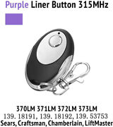 1 For Chamberlain Liftmaster Garage Door Opener Remote 355lm Purple Learn Button