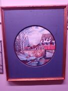 Original Ken Zylla Painting Christmas In The Country. Rare.