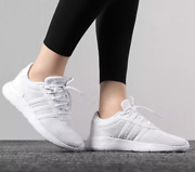 Adidas Womens Lite Racer Shoes Trainers Gym Cloud White/silver F34672 Uk 7.5
