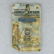 Vintage Cleinman And Sons Combat Award Badges All Metal Insignia Military Army Toy
