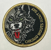 Chicago Wolves Day Hockey Boy Scout Patch Tk1