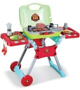 Deluxe Kitchen Bbq Pretend Play Grill Set W/ Light And Sound Set Cook Kids Fun