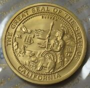 1990 Gold California Grizzly Bear 1 Oz Sealed 999.9 Pure Gold Coin / Coa