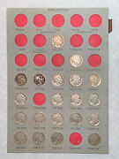 46 Indian Head Buffalo Nickels In 2 Hard Cardboard Pages From Coin Book