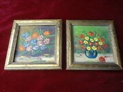 2 Miniature Still Life Signed Oil Paintings.........no Reserve.